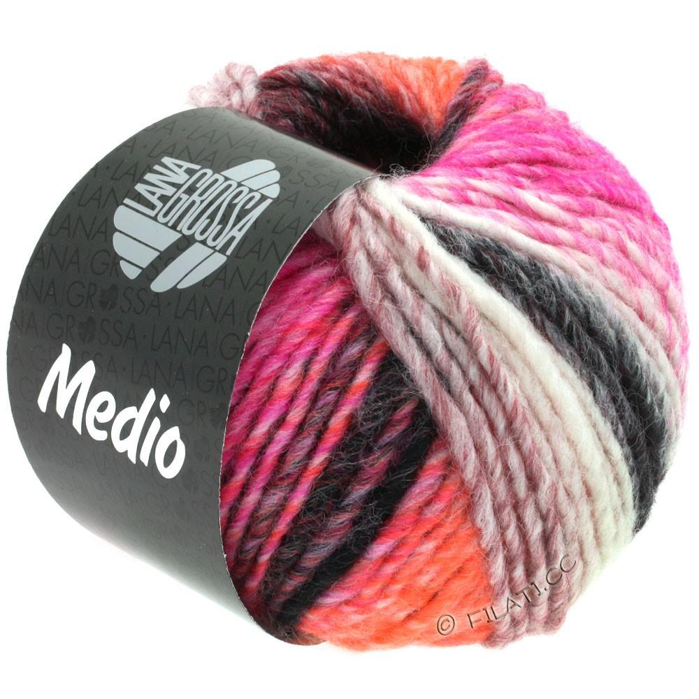 Lana Grossa MEDIO | 41-framboise/pêche/rouge foncé/gris clair/anthracite/nature