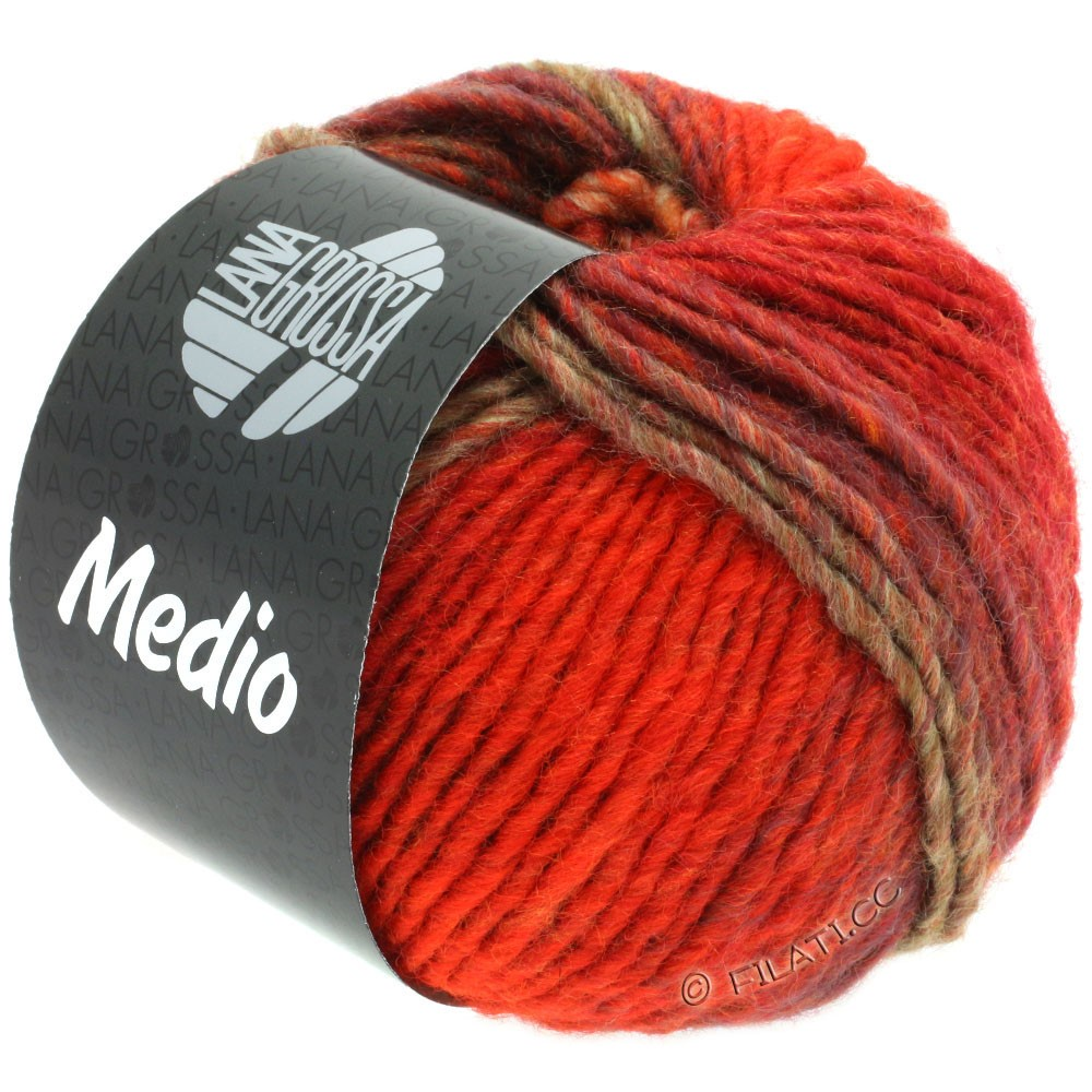 Lana Grossa MEDIO | 42-rouge/bordeaux/gris vert/lilas/orange