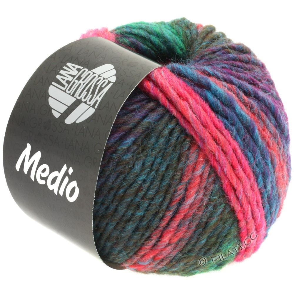Lana Grossa MEDIO | 43-pétrole/vert jade/rose vif/olive/framboise/bleu clair