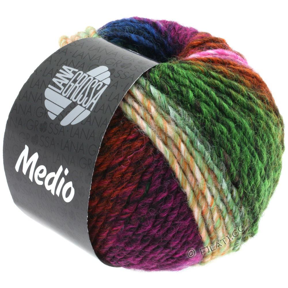 Lana Grossa MEDIO | 44-cyclamen/rose/sapin/brun rouge/vert/bleu/orange/jaune/pétrole