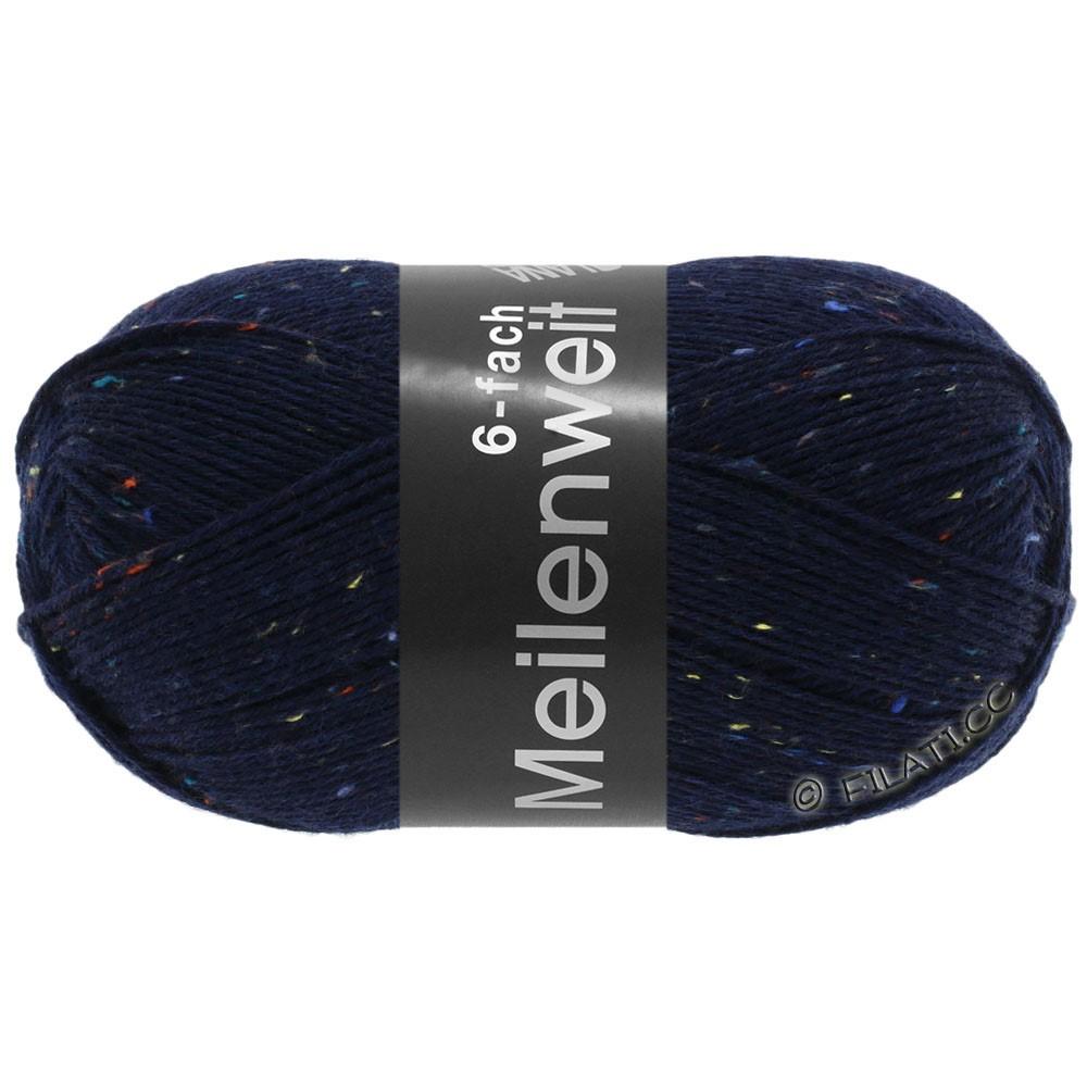 Lana Grossa MEILENWEIT 6-FACH 150g Print/Tweed   8816-bleu nuit chiné