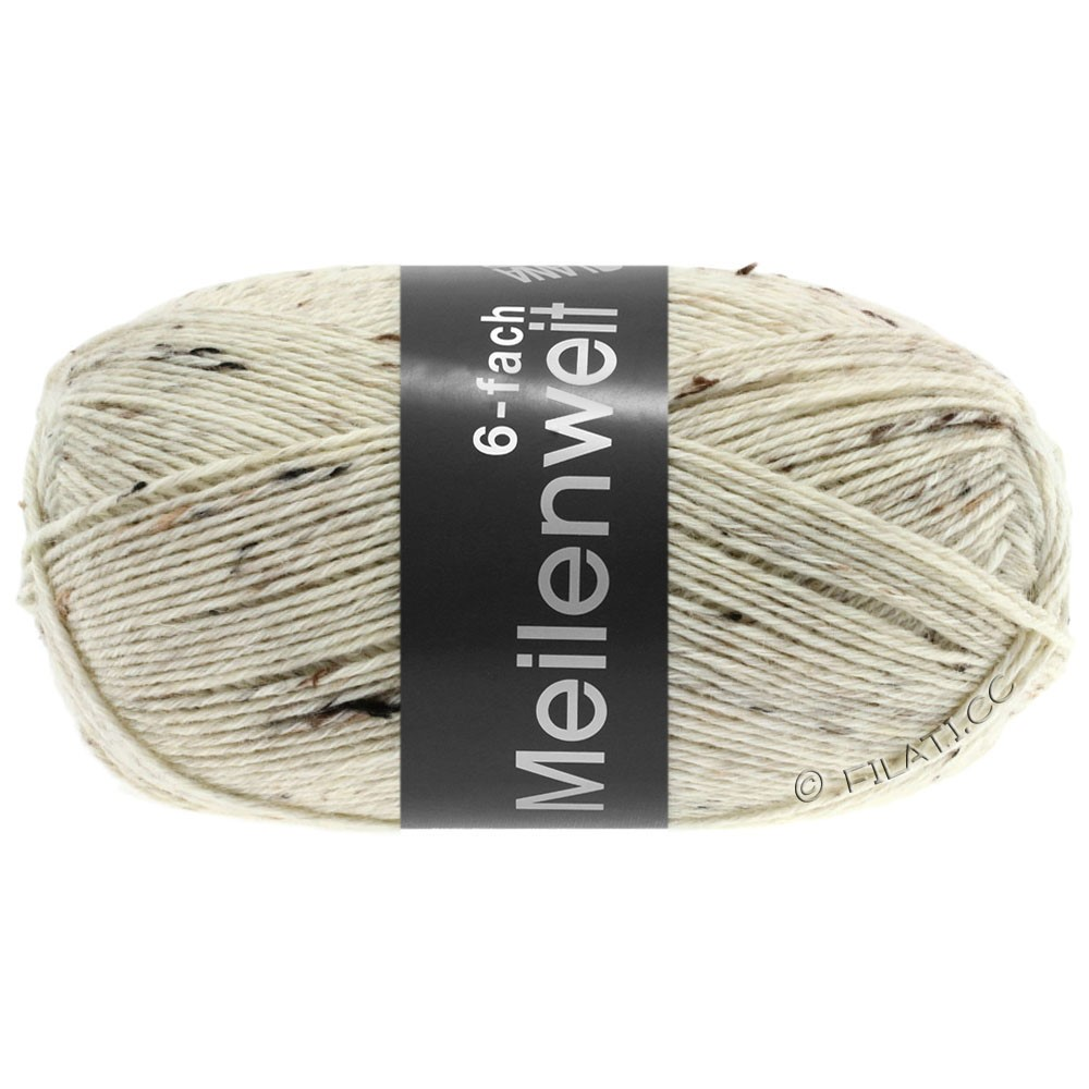 Lana Grossa MEILENWEIT 6-FACH 150g Print/Tweed | 8817-nature chiné