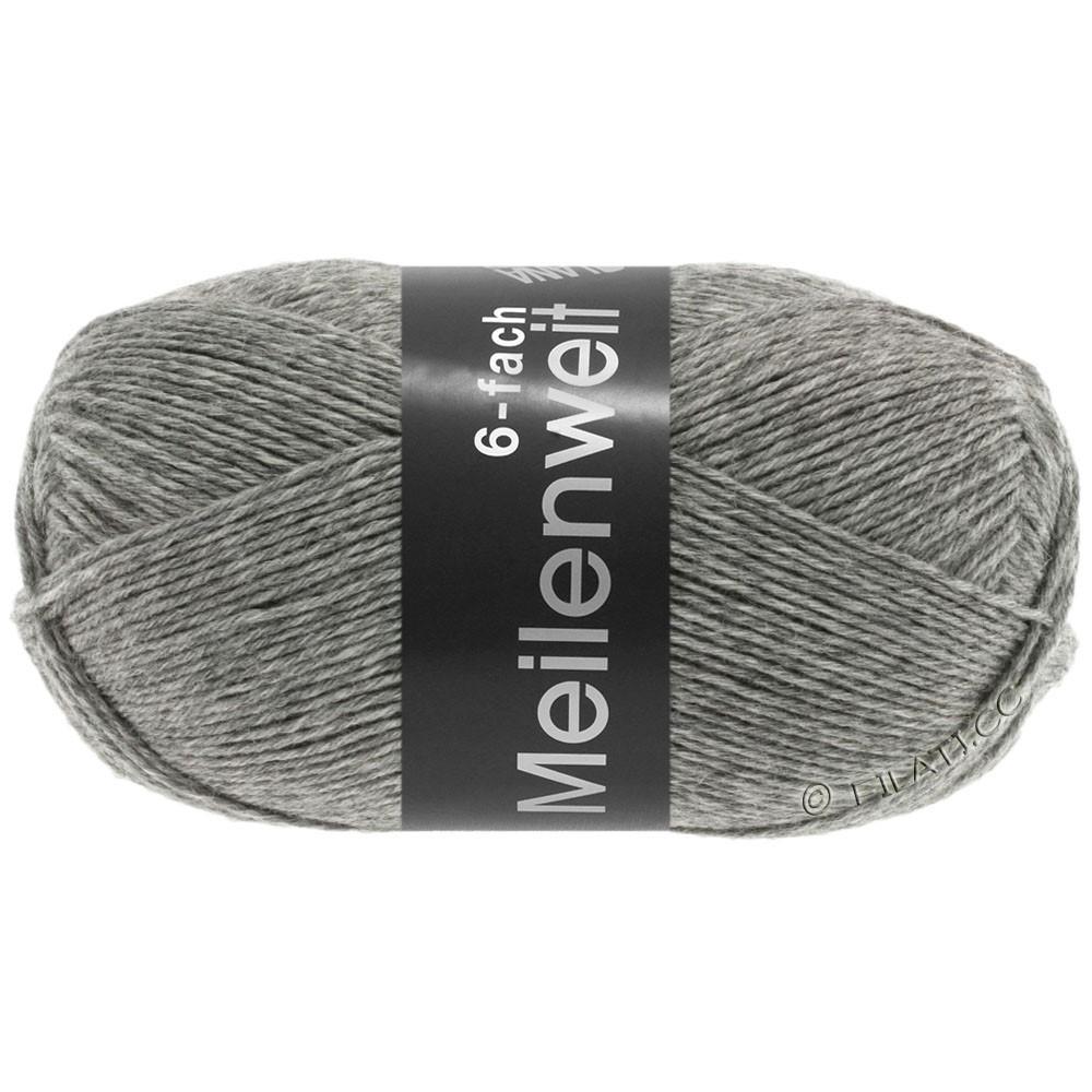 Lana Grossa MEILENWEIT 6-FACH 150g Uni | 8961-gris chiné