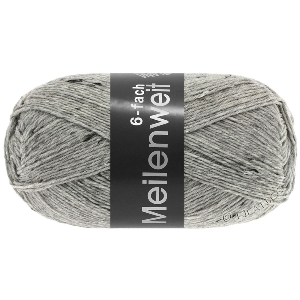 Lana Grossa MEILENWEIT 6-FACH 150g Print/Tweed | 8972-gris clair chiné