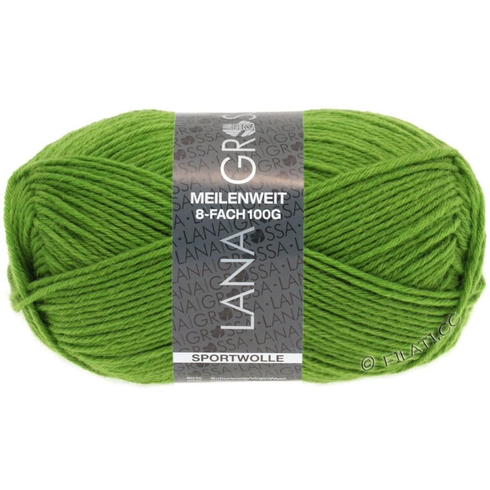 Lana Grossa MEILENWEIT 8-FACH 100g Uni | 9554-vert clair