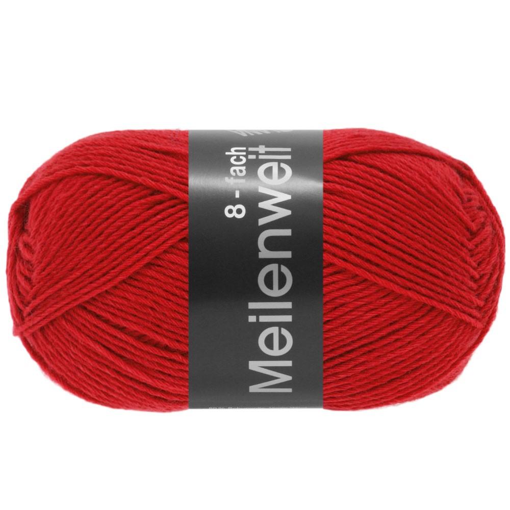 Lana Grossa MEILENWEIT 8-FACH 100g Uni | 9555-rouge
