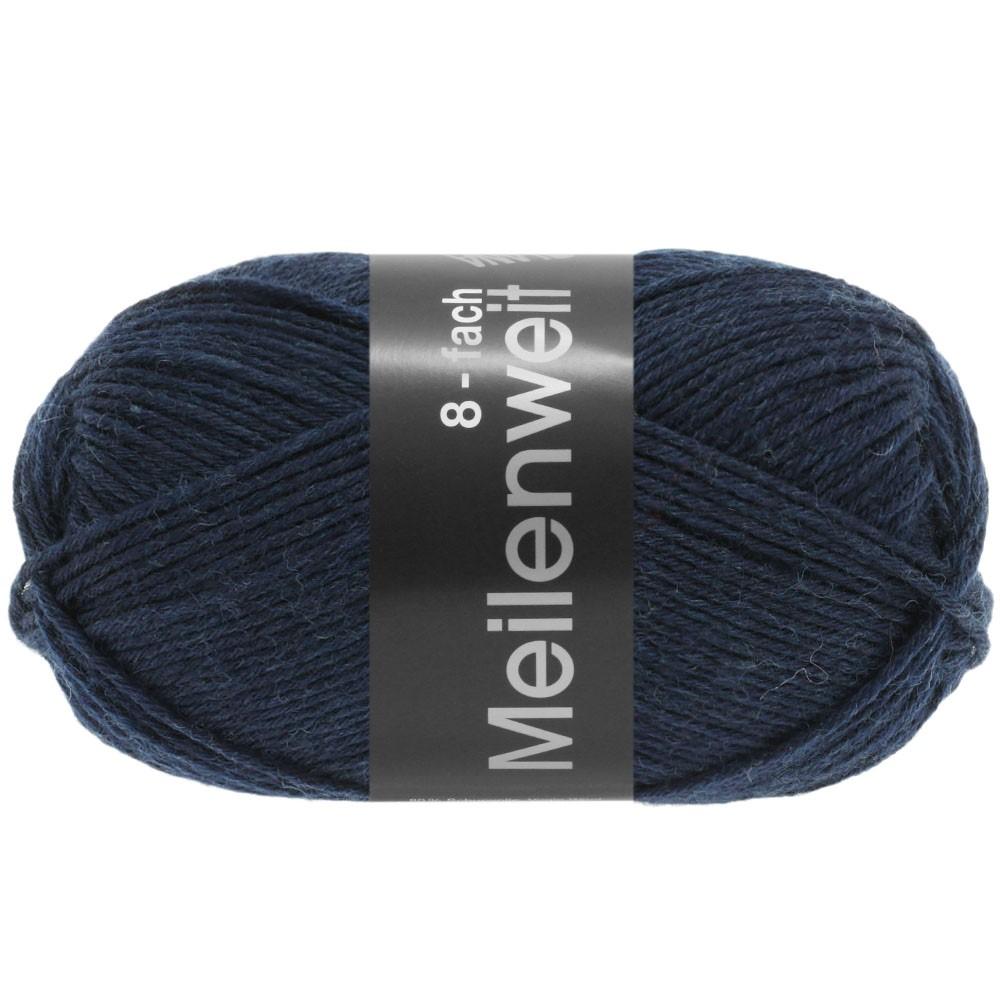 Lana Grossa MEILENWEIT 8-FACH 100g Uni | 9556-bleu nuit