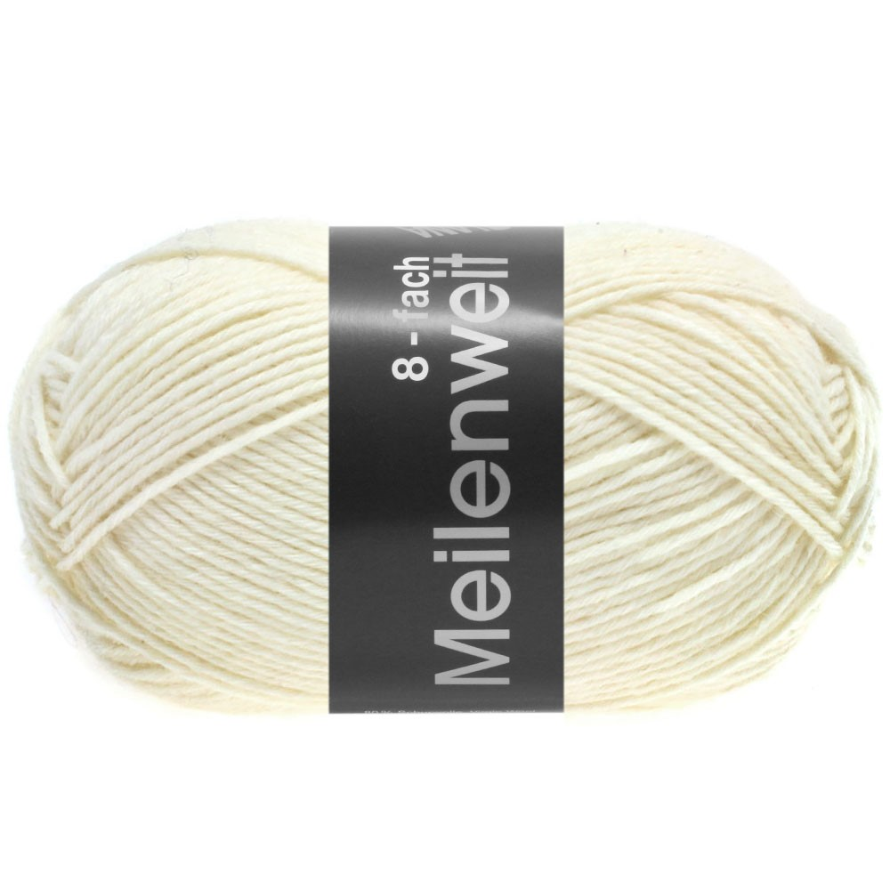 Lana Grossa MEILENWEIT 8-FACH 100g Uni | 9560-blanc