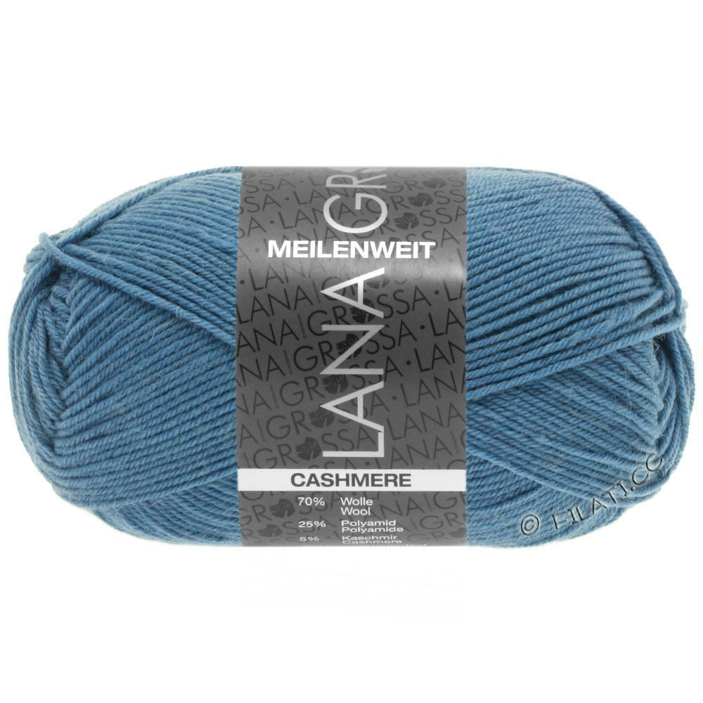 Lana Grossa MEILENWEIT 50g Cashmere | 18 -bleu pigeon