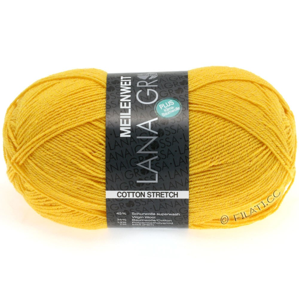 Lana Grossa MEILENWEIT 100g Cotton Stretch | 8034-jaune soleil
