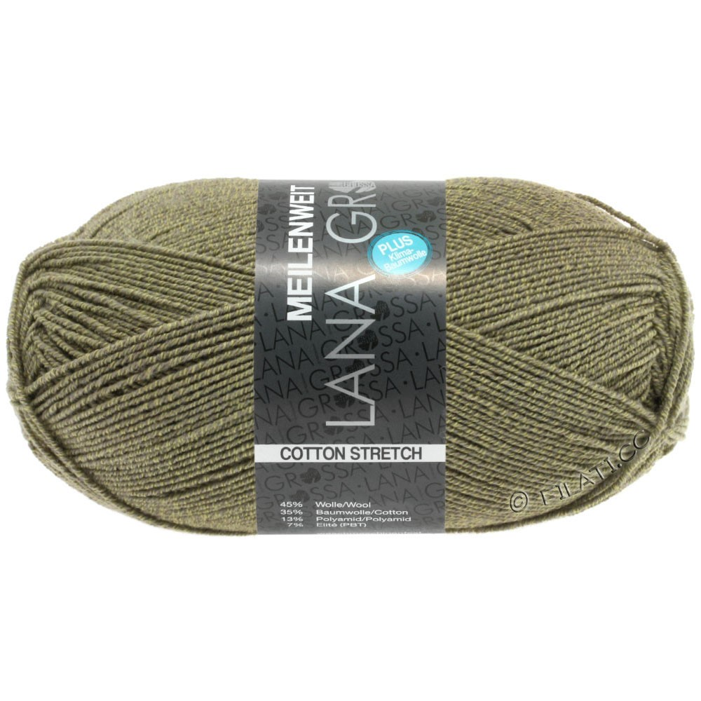 Lana Grossa MEILENWEIT 100g Cotton Stretch | 8046-kaki