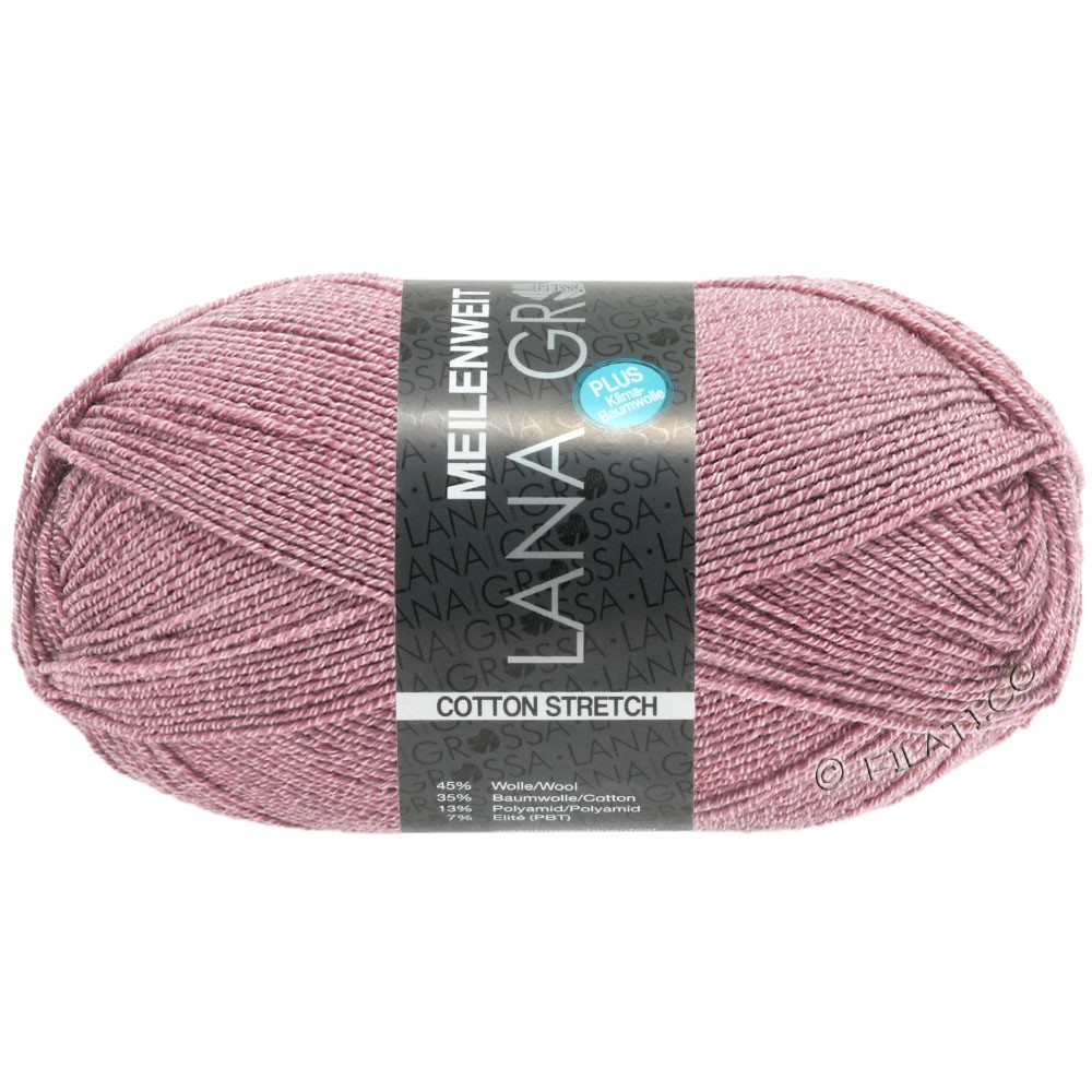 Lana Grossa MEILENWEIT 100g Cotton Stretch | 8047-vieux rose