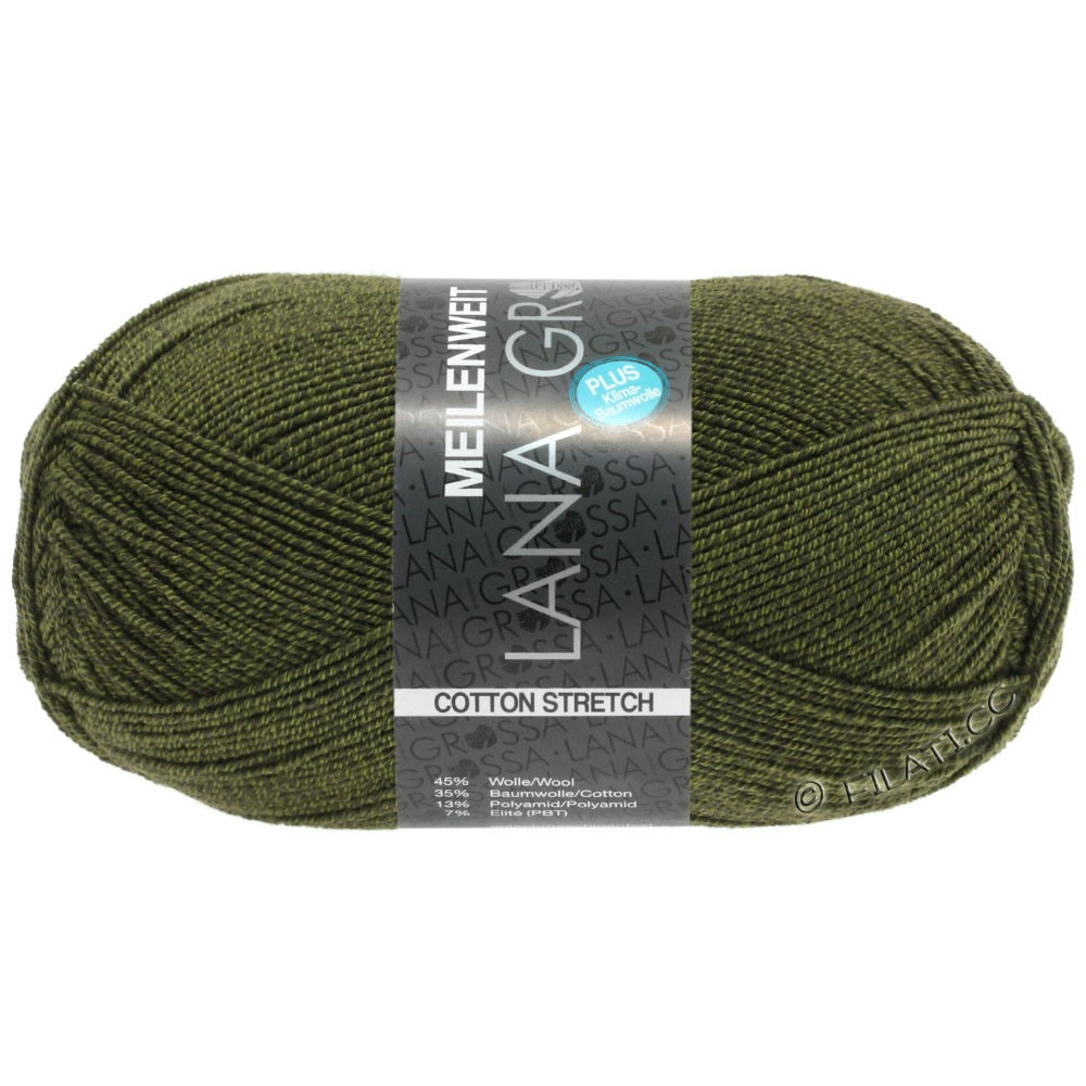 Lana Grossa MEILENWEIT 100g Cotton Stretch | 8048-vert olive
