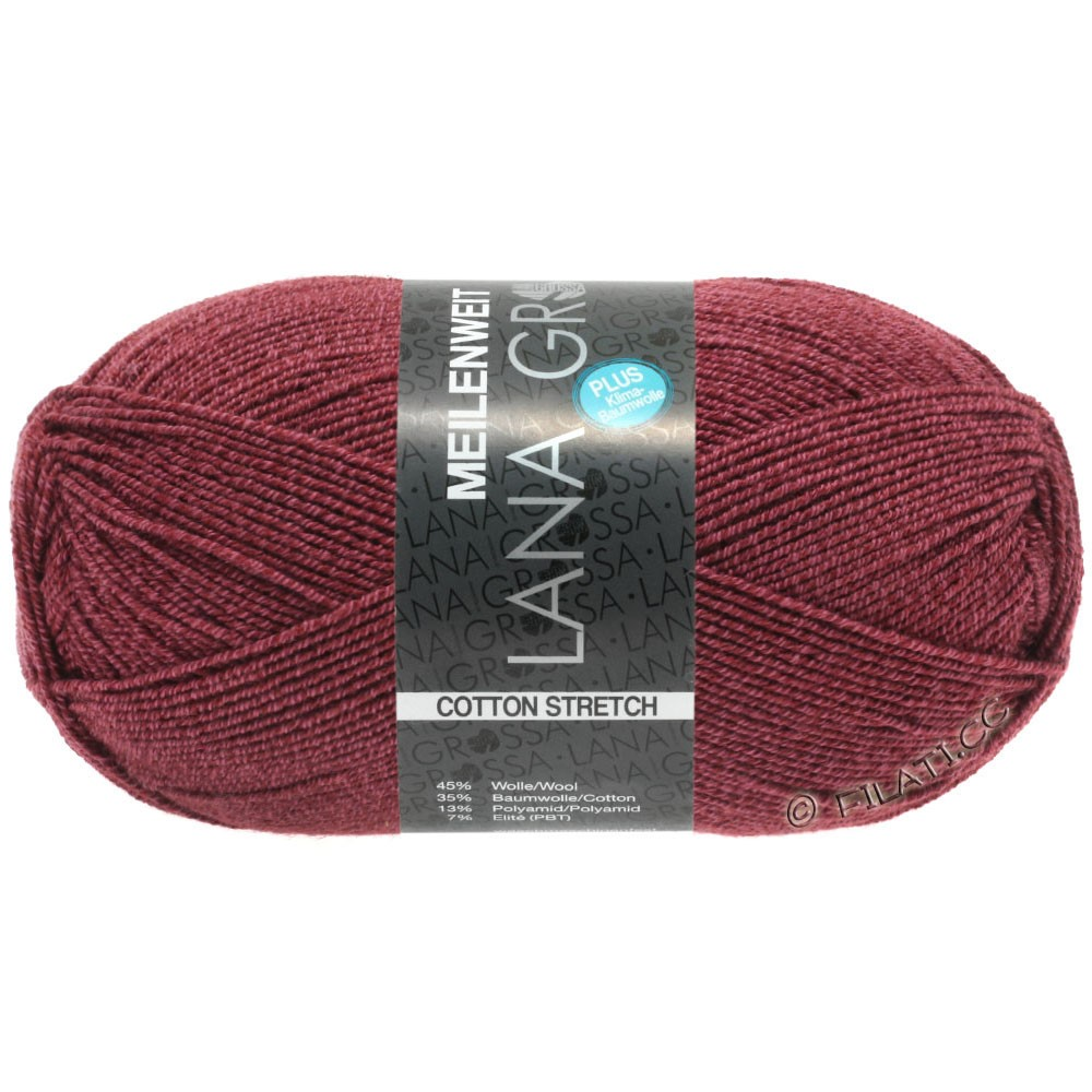 Lana Grossa MEILENWEIT 100g Cotton Stretch | 8050-rouge vin