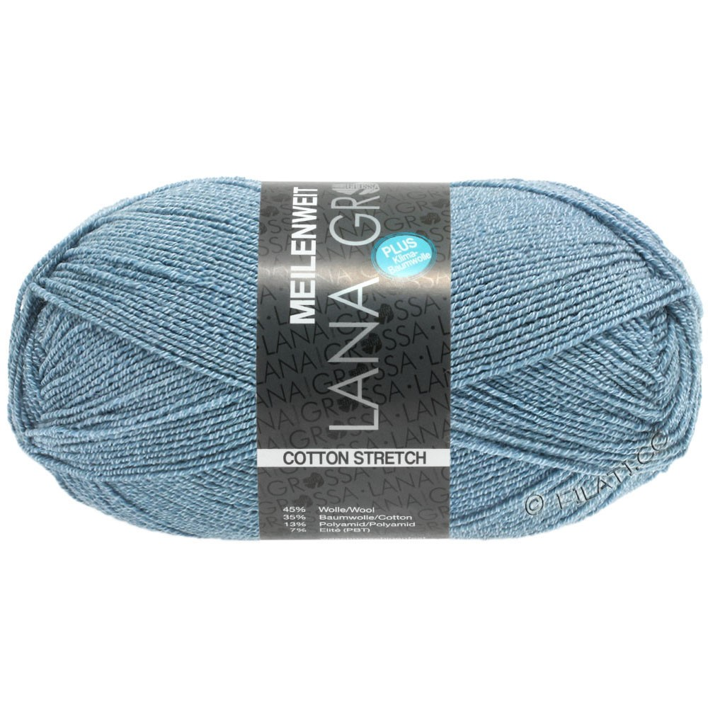 Lana Grossa MEILENWEIT 100g Cotton Stretch | 8051-bleu ciel