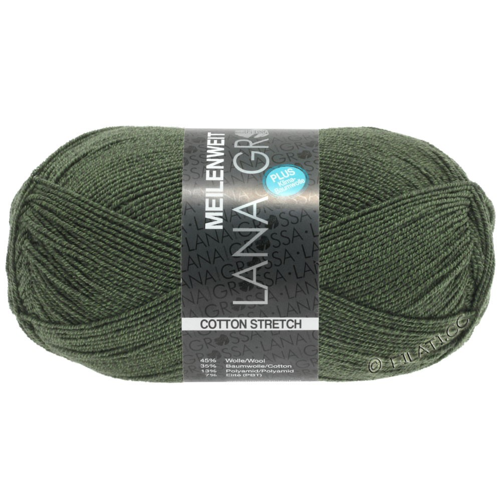 Lana Grossa MEILENWEIT 100g Cotton Stretch | 8055-vert roseau