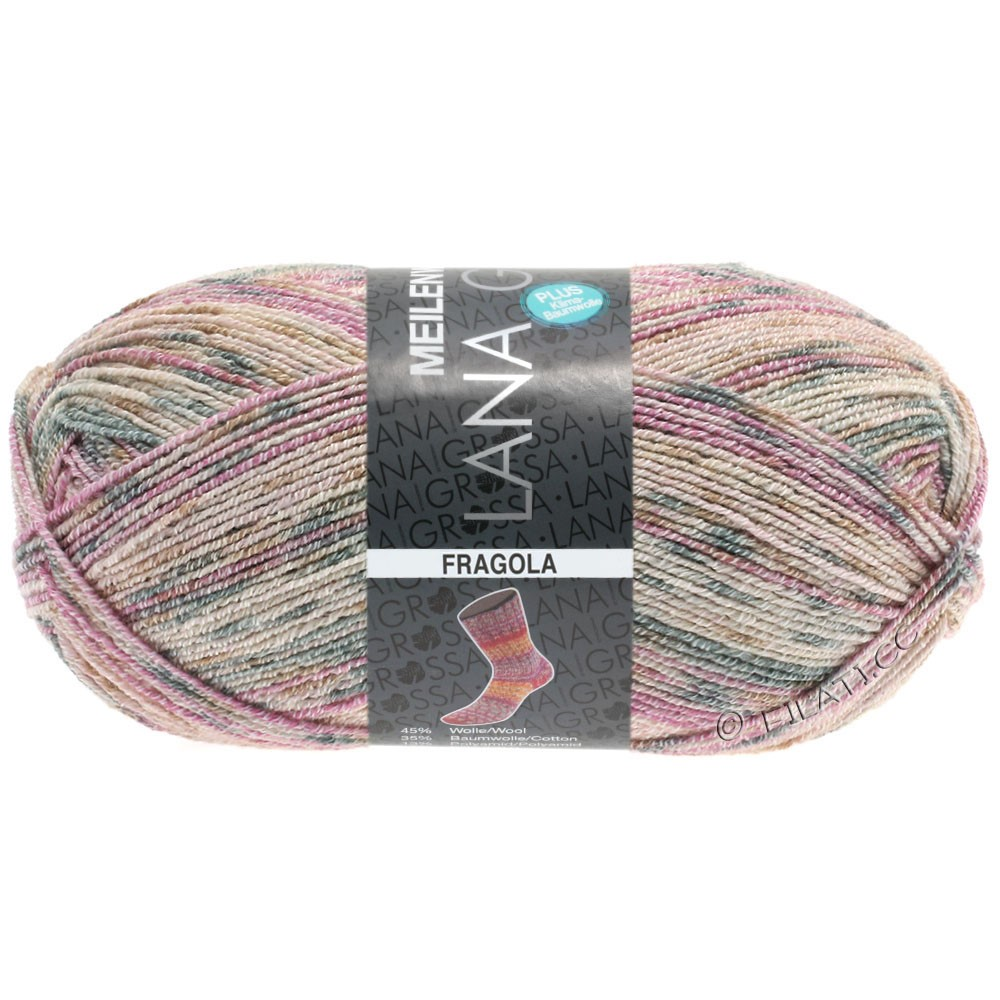 Lana Grossa MEILENWEIT 100g Cotton Stretch Print   6202 - Fragola-