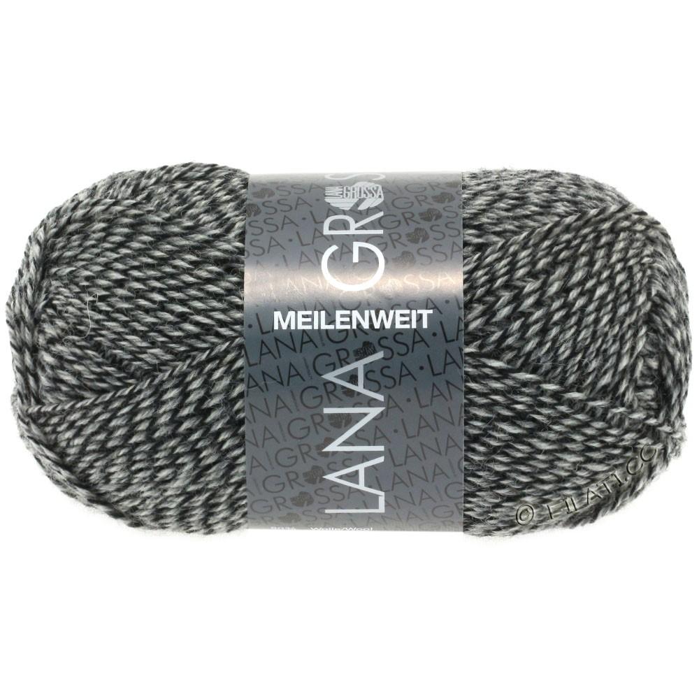 Lana Grossa MEILENWEIT 50g Uni | 1178-nature/gris/noir