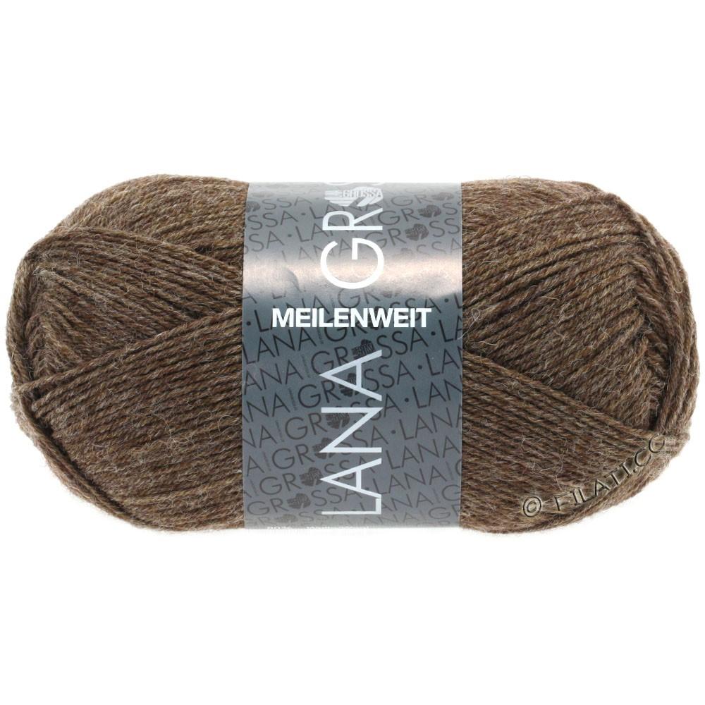 Lana Grossa MEILENWEIT 50g Uni | 1305-brun gris