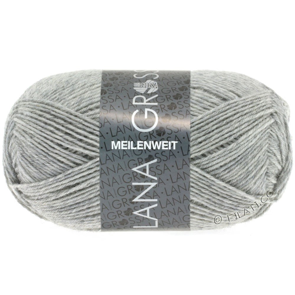 Lana Grossa MEILENWEIT 50g Uni | 1346-gris clair chiné