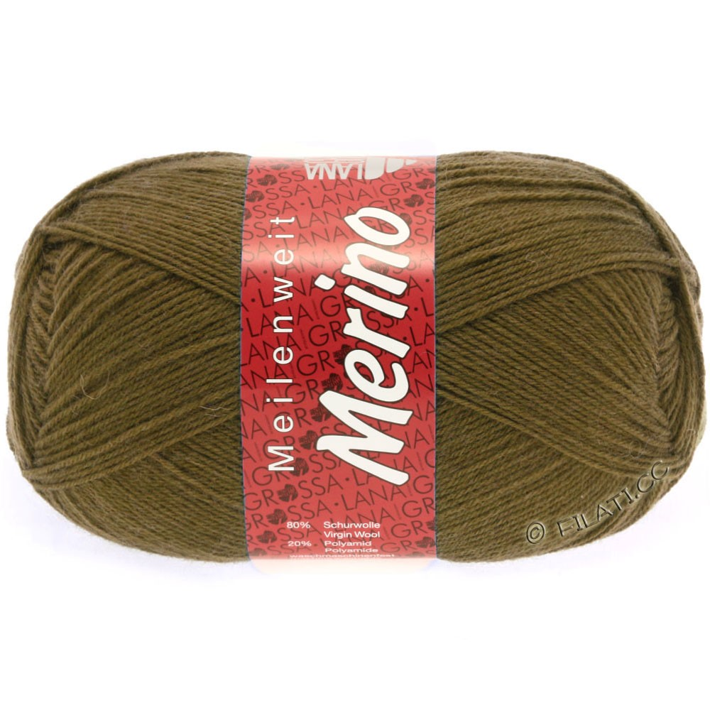 Lana Grossa MEILENWEIT 100g Merino Uni | 2039-brun clair