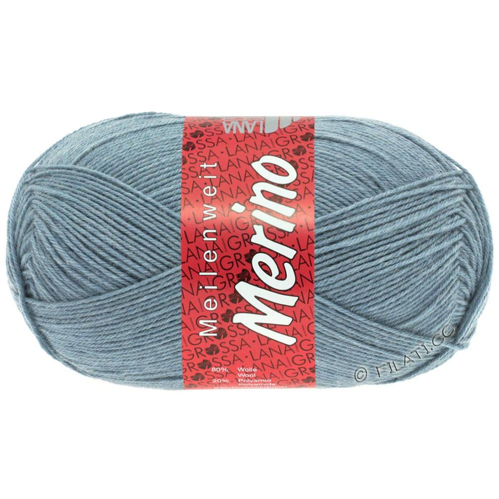 Lana Grossa MEILENWEIT 100g Merino Uni | 2044-gris bleu