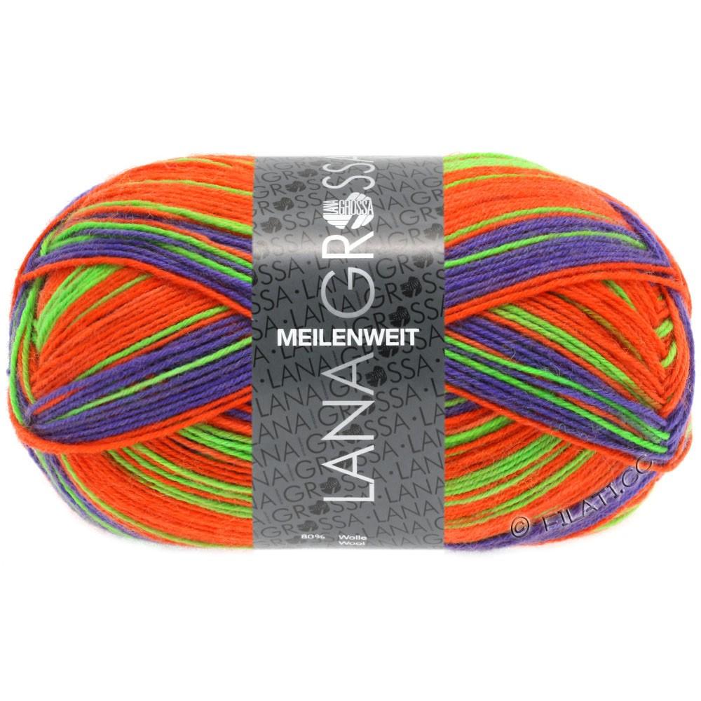 Lana Grossa MEILENWEIT 100g Print (couleurs abandonnées) | 4107 - Neon-