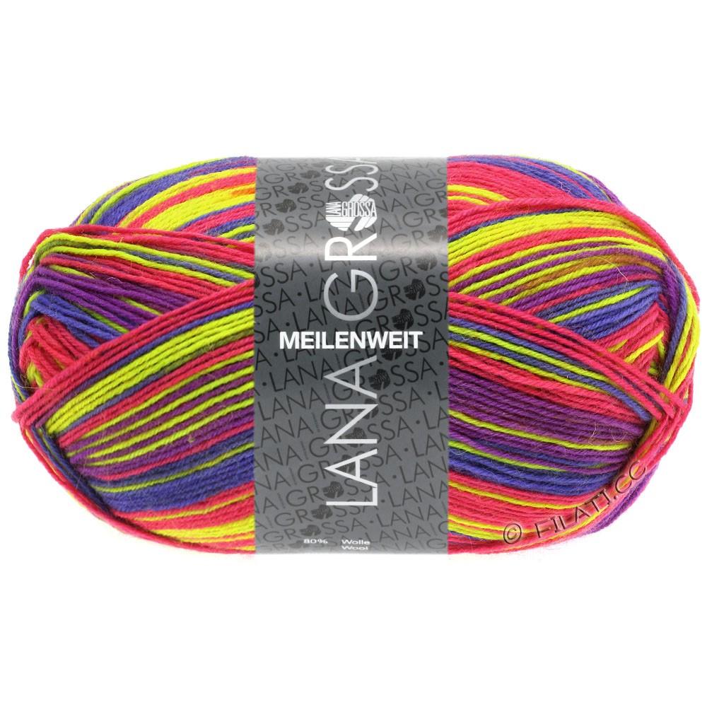 Lana Grossa MEILENWEIT 100g Print (couleurs abandonnées) | 4111 - Neon-