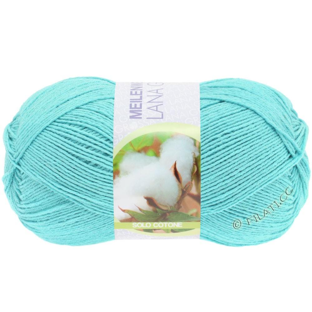 Lana Grossa MEILENWEIT 100g Solo Cotone  Unito | 3453-turquoise clair