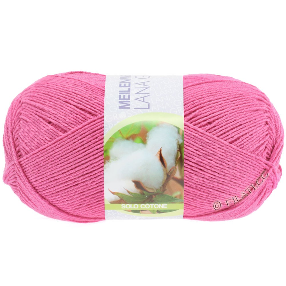 Lana Grossa MEILENWEIT 100g Solo Cotone  Unito | 3456-rose vif