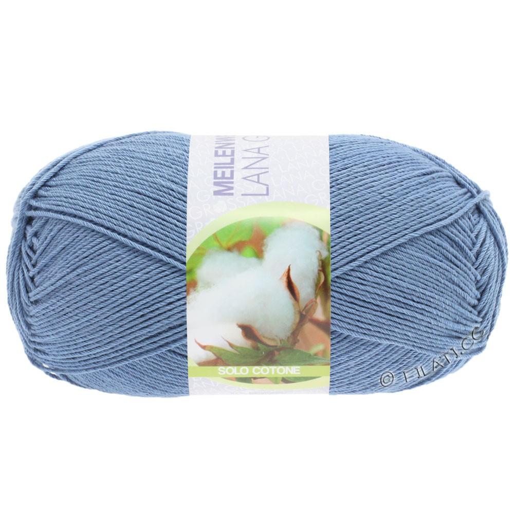 Lana Grossa MEILENWEIT 100g Solo Cotone Unito   3470-bleu pigeon