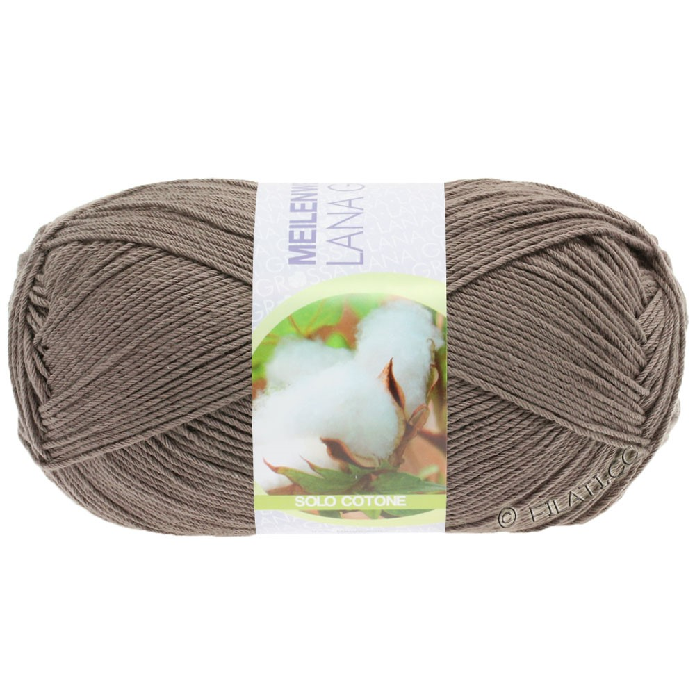 Lana Grossa MEILENWEIT 100g Solo Cotone Unito | 3471-brun clair