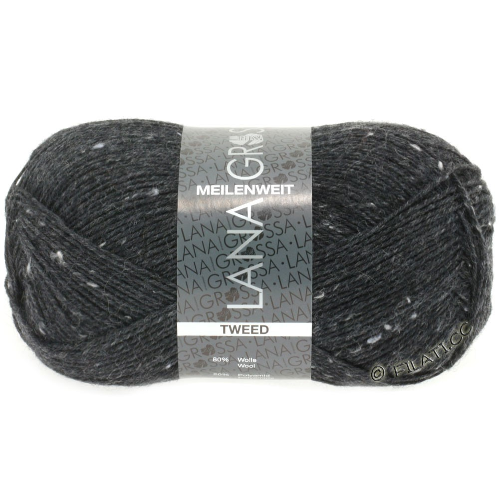 Lana Grossa MEILENWEIT 100g Tweed | 107-anthracite