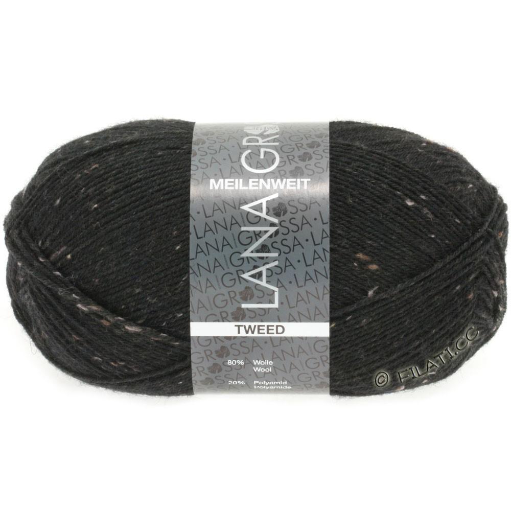 Lana Grossa MEILENWEIT 100g Tweed | 126-noir