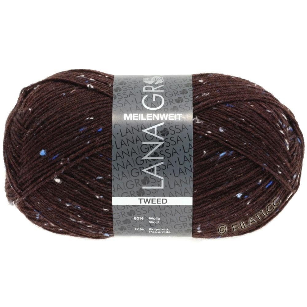 Lana Grossa MEILENWEIT 100g Tweed | 143-rouge foncé