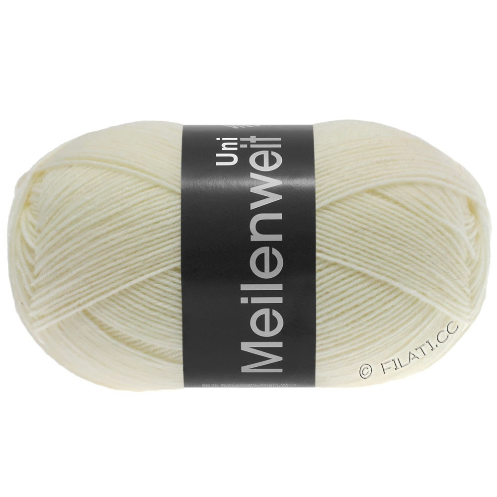 Lana Grossa MEILENWEIT 100g  Uni | 1113-blanc naturel