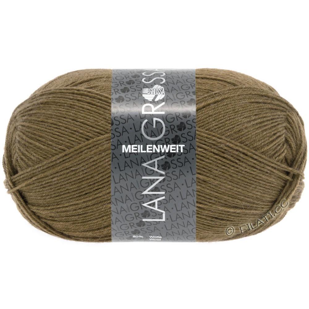 Lana Grossa MEILENWEIT 100g  Uni | 1362-brun olive