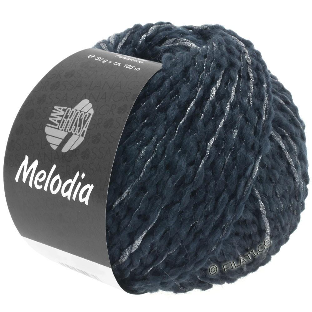 Lana Grossa MELODIA | 07-bleu noir/argent