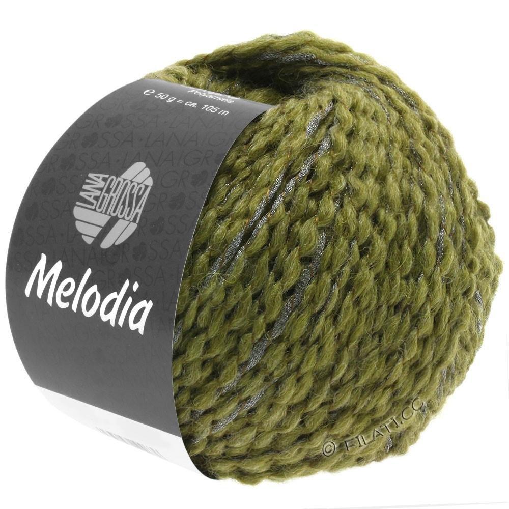 Lana Grossa MELODIA | 10-olive/argent