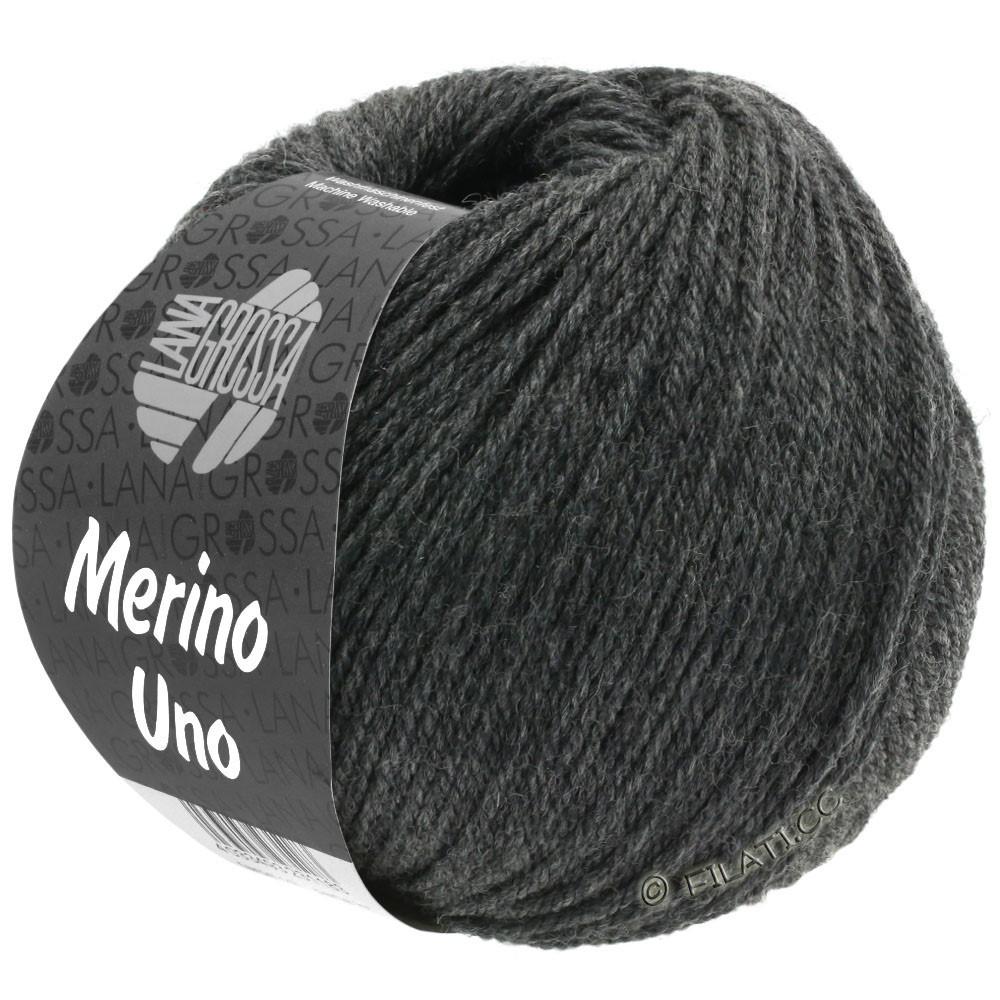 Lana Grossa MERINO UNO | 11-gris foncé