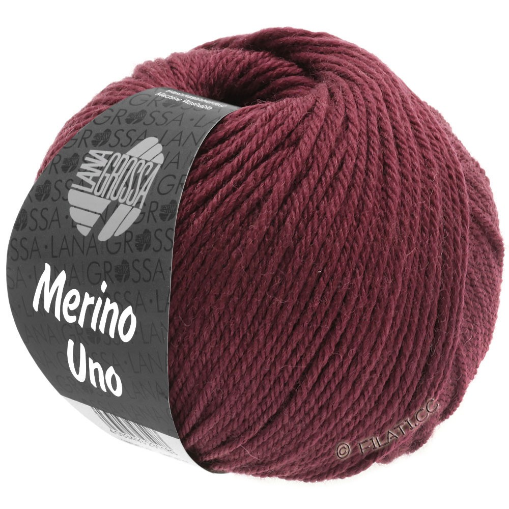 Lana Grossa MERINO UNO | 16-rouge vin