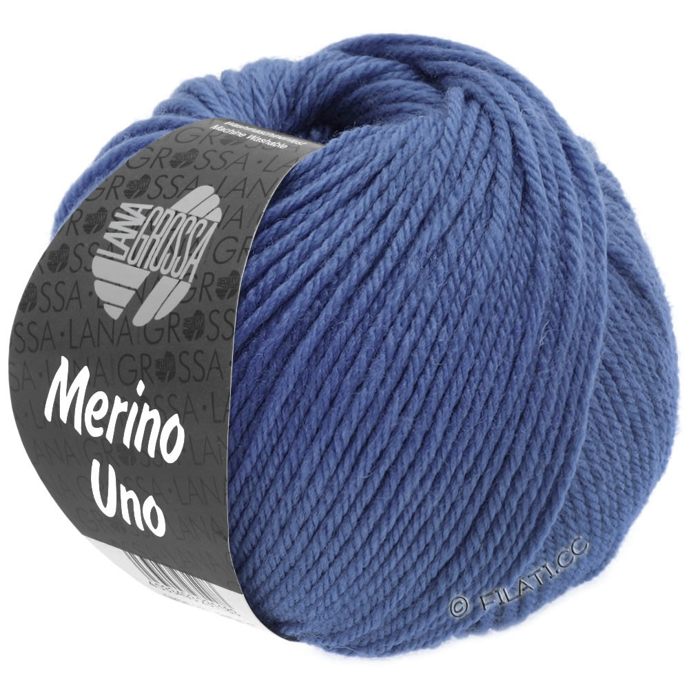 Lana Grossa MERINO UNO | 23-pourpre bleu