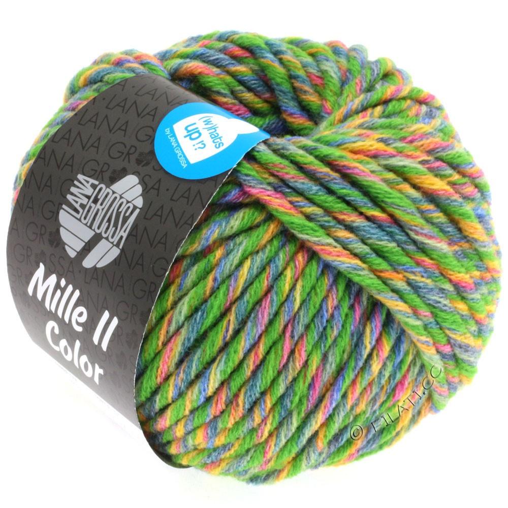 Lana Grossa MILLE II Color/Moulinè | 803-vert/jaune/rouge/jean/vert tendre chiné