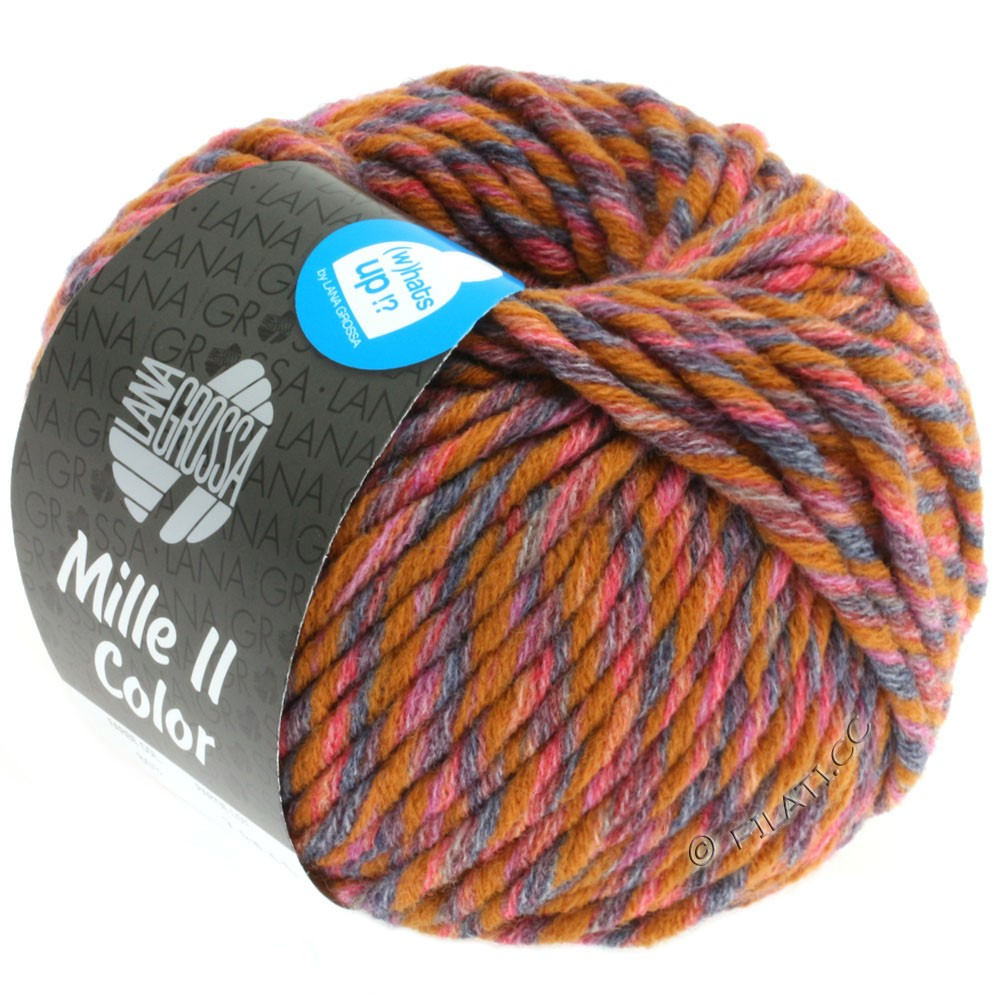 Lana Grossa MILLE II Color/Moulinè | 804-ocre/rouge/gris/anthracite chiné