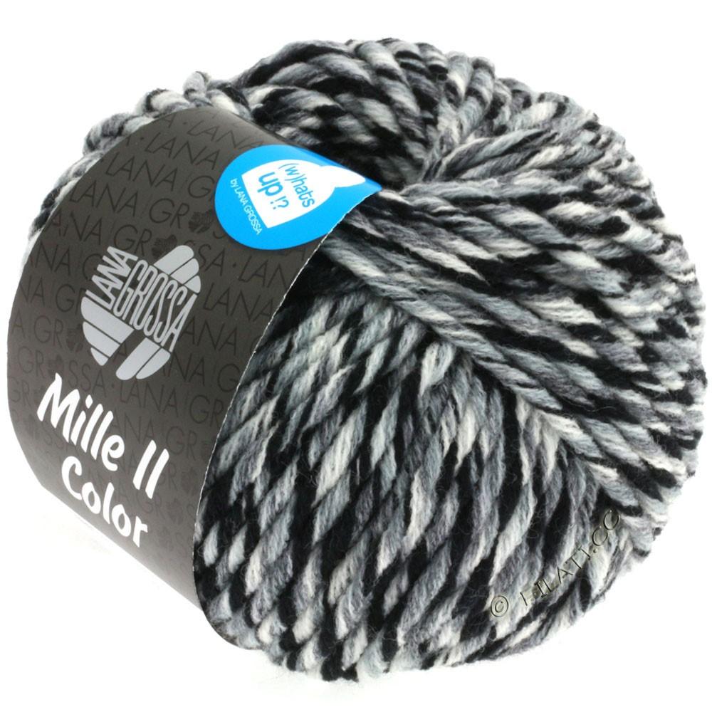 Lana Grossa MILLE II Color/Moulinè | 805-blanc/gris/noir chiné