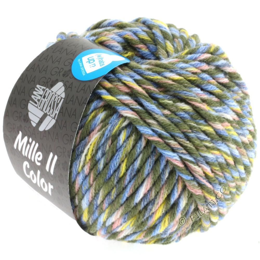 Lana Grossa MILLE II Color/Moulinè | 807-loden/jaune/rose/jean/bleu clair chiné