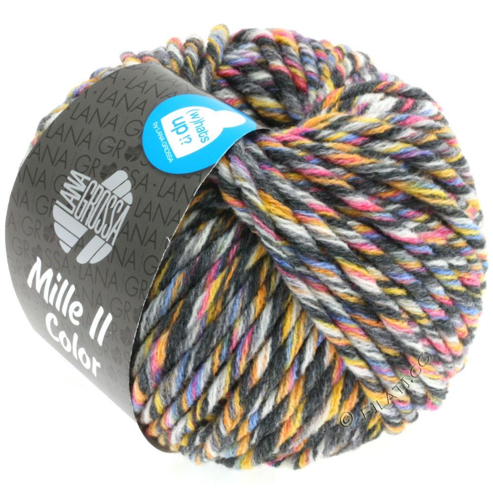 Lana Grossa MILLE II Color/Moulinè | 808-blanc/jaune/rose/bleu clair/gris/anthracite chiné