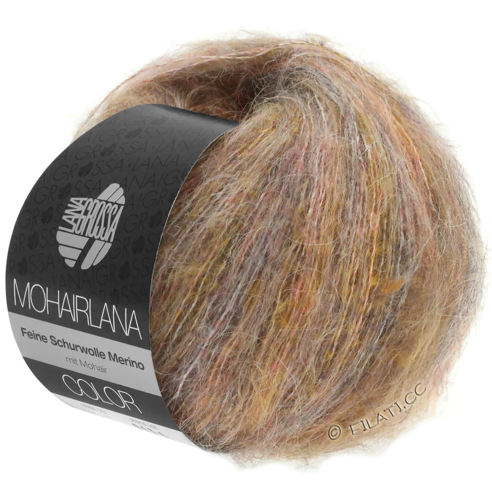 Lana Grossa MOHAIRLANA COLOR | 101-taupe/orange clair
