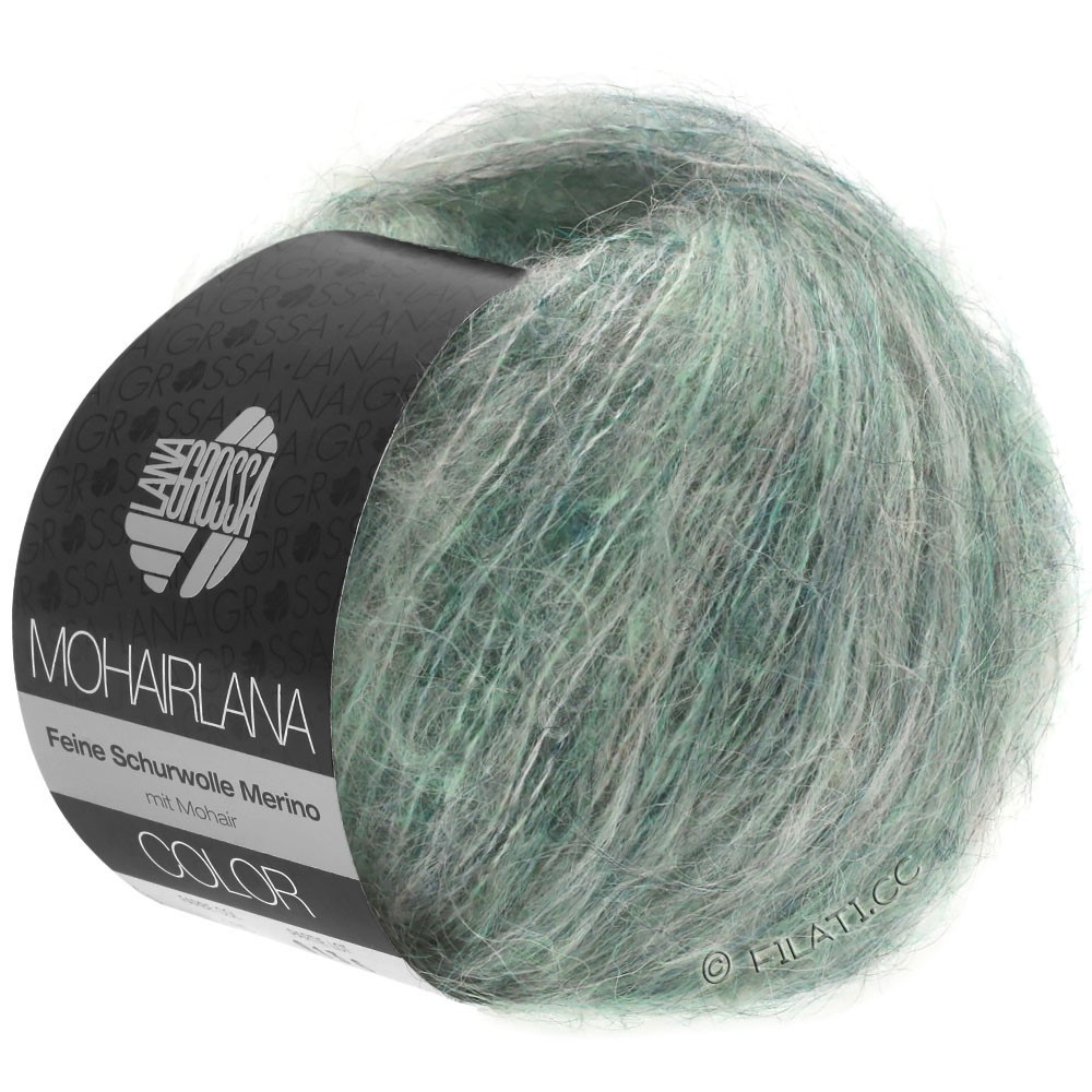 Lana Grossa MOHAIRLANA COLOR | 106-gris vert/pétrole