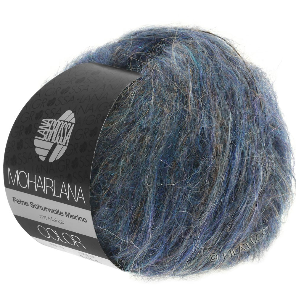 Lana Grossa MOHAIRLANA COLOR | 108-jean foncé/violet bleu